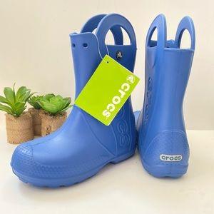 Crocs Kids Handle It Rain Boot sea blue Sz jr 2